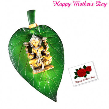 Laxmi on Leaf and Card