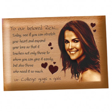 Wooden Plaque - 5 inch x 4 inch & Card