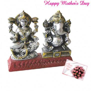 Ganesh Laxmi Idol and Card