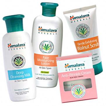 Himalaya Natural Care - Anti Wrinkle Cream + Moisturizing Lotion + Deep Cleansing Milk + Walnut Scrub