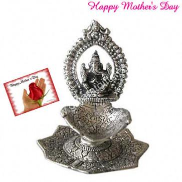 Oxidized Ganesh Diya and Card