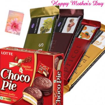 Tempting Hamper - Chocopie 12 pcs, 4 Temptations and Card
