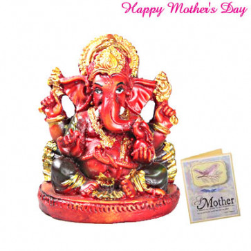 Red Ganesha and Card