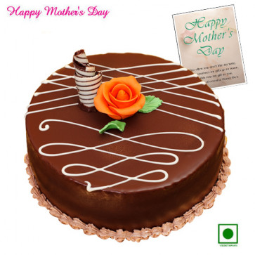 Chocolate Eggless Cake - Chocolate Eggless Cake 1 Kg and Card