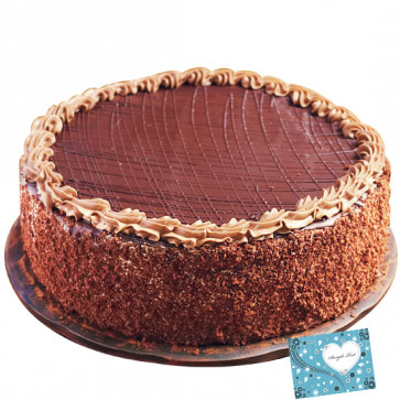 Chocolate Truffle Cake 1.5 Kg and Card