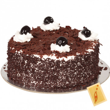 Lots of Love - 1.5 kg Black Forest Cake and Card