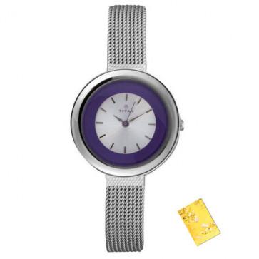 Titan Purple Analog Purple Dial