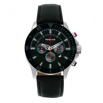 Fastrack Black Chronograph Watch