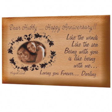 Wooden Plaque - 9 inch x 6 inch & Card
