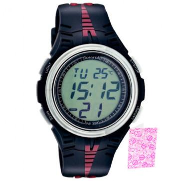 Sonata Digital Grey Watch