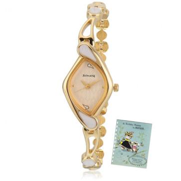 Sonata Analog Golden Watch