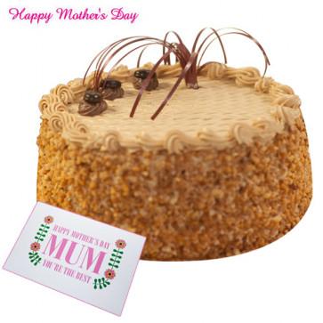 Butterscotch Cake - Butterscotch Cake 1 Kg and Card