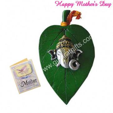 Ganesh Ji On Leaf and Card