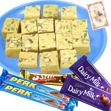 Awsome Assortment - Soan Papdi 250 Gms, 5 Assorted Bars