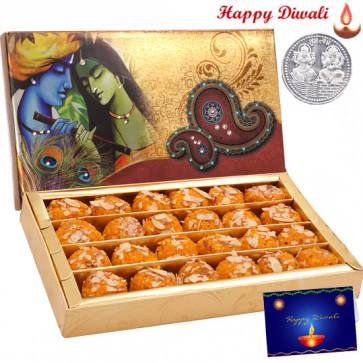 Bundi Ladu - Bundi Ladu 500 gms with Laxmi-Ganesha Coin
