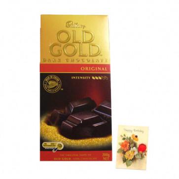 Cadbury Old Gold Dark Original - Austrailian Bar