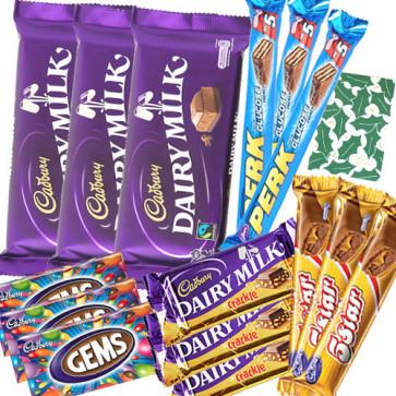 Assorted 15 Cadbury Chocolate Bars