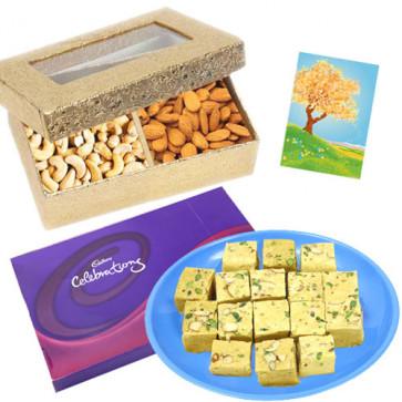 Celebration Combo - Soan Papdi, Celebrations, Cashewnuts & Almonds