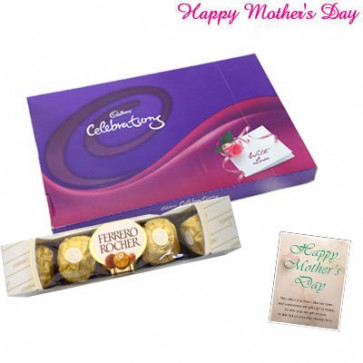 Celebration Time - Celebrations, Ferrero Rocher 5 pcs and Card