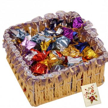 Choco Treat - Handmade Chocolates 200 gms in Basket