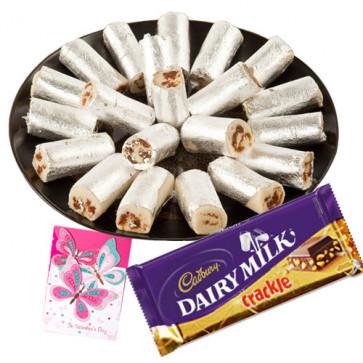 Crunchy Combo - Anjir Roll, Cadbury Dairy Milk Crackle