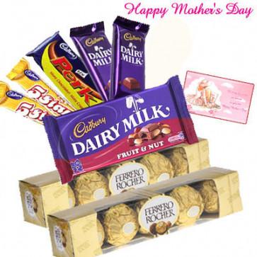 Delightful Chocolates - Cadbury Hamper, 2 Ferrero Rocher 5 pcs and Card