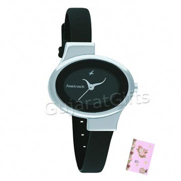 Fastrack Watch Gray Dial and Card