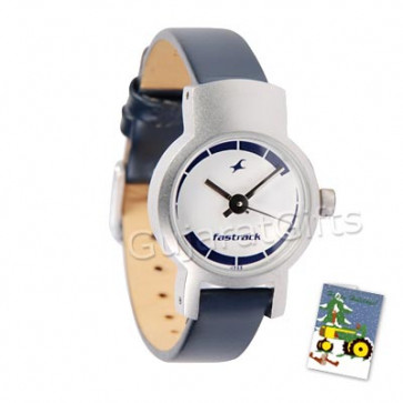 Fastrack Watch White Dial Gray Strap