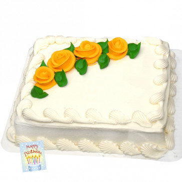 Five Star Bakery - Vanilla Cake Square Shape 1 kg and Card