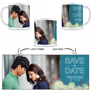 White Printable Mug & Card
