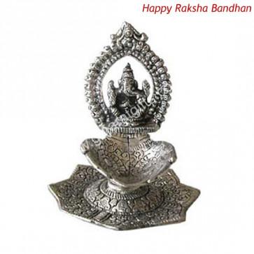 Oxidised Ganesh Diya