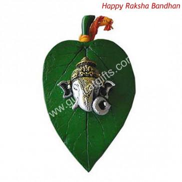 Ganesh Ji On Leaf