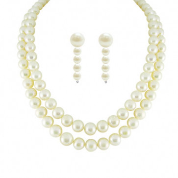 New Dual Line Classic Pearl Necklace