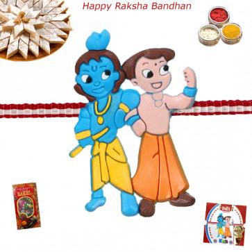 Krishna with Friend Rakhi