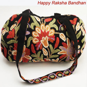 Kashmiri Black Hand Bag