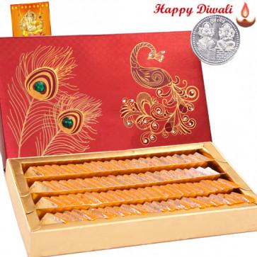 Kesar Kaju Katli - Kesar Kaju Katli 500 gms with Laxmi-Ganesha Coin