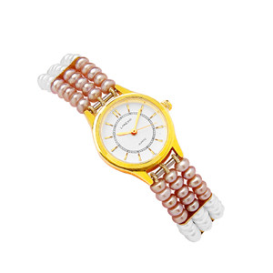 Classic button pearl watch