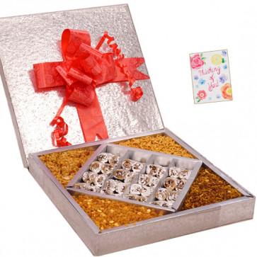 Pleasing Gifts Box - Anjir Roll 500 gms, Namkeen 500 gms
