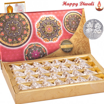 Roll Treat - Kaju Anjir Roll 1 kg with Laxmi-Ganesha Coin