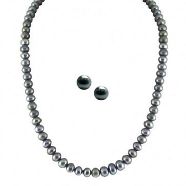 Single Line Grey Pearl Set
