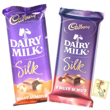 Silk Combo - 2 Cadbury Dairy Milk Silk & Card