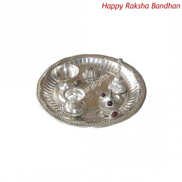 Silver Plated Puja Thali