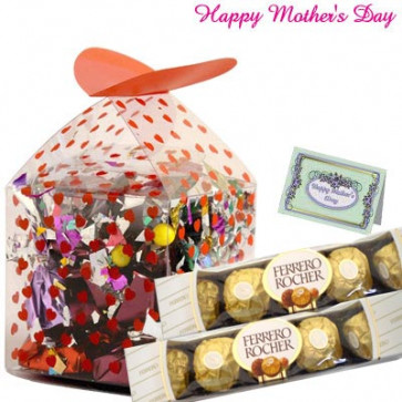 Special Chocolates - Assorted Chocolate Box 200 gms, 2 Ferrero Rocher 5 pcs and Card