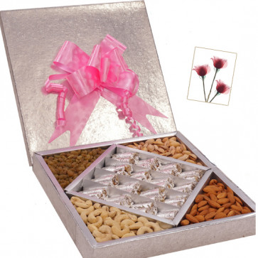 Superb Sweet Treat - Anjir Roll 500 gms, Assorted Dry fruits 500 gms