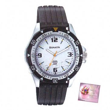 Sonata Watch White Dial