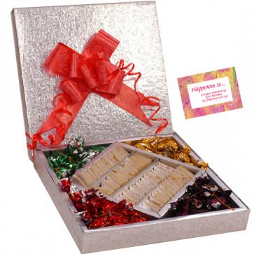 Sweet Gift Box - Kaju Katli 500 gms, Chocolates 500 gms