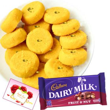 Treat Time - Kesar Penda, Cadbury Dairy Milk Fruit & Nut