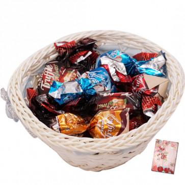 Truffle Basket - Truffle Chocolate 300 gms in Decorative Basket