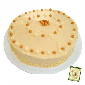 Treat for Taste - 1/2 Kg Butter Scotch Cake and Card