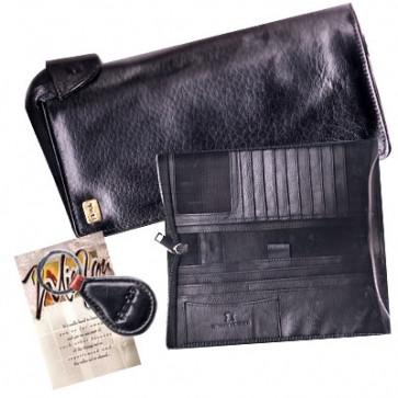 Black Leather Coat Wallet